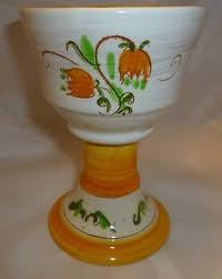 stangl pottery terra stangl pottery vintage terra yellow tulip goblet 1950s