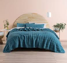 Teal Coverlet Sunday 240x260cm Coverlet Set Teal