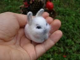 rabbit bunny felted animal bunny miniature needle felted tiny bunny rabbit