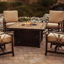 Patio Furniture With Gas Fire Pit by Agio Syracuse Gas Fire Pit