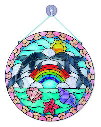 melissa and doug stained glass dolphin 19291 arts and crafts