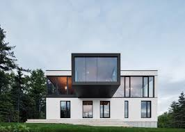 acdf creates quebec home with cantilevered living room 10 of 10 blanche chalet by acdf architecture
