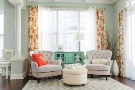 Curtain Color For Orange Walls Inspiration Living Room Mint Walls With Armchairs And Orange Curtains