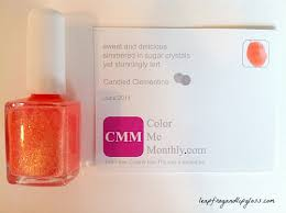 june 2014 color me monthly nail polish review u2013 candied clementine