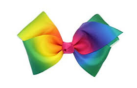 hair bow childrens large multi coloured fashion hair bow school