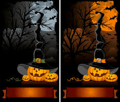 halloween cartoon background 02 vector free vector 4vector