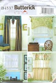 amazon com butterick 4537 sewing pattern cafe curtains valance