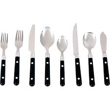 Cheap Cutlery Sets by Gibson Casual Living 58 Pc Plastic Handle Flatware Set Flatware