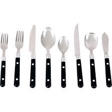 gibson casual living 58 pc plastic handle flatware set flatware