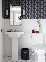 Wallpaper For Bathrooms Ideas by Creative Black And White Small Bathroom With Chains Bathroom