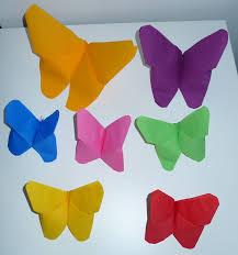 pliage de serviette en papier 2 couleurs feuille pliage serviette papier papillon