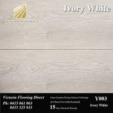 Laminate Floor Wax Ivory White 12mm Laminate Floor Floating Timber Flooring