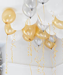 gold balloons gold silver and white balloons