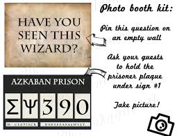 Halloween Printables Decorations Hp Photo Booth Prisoner Of Azkaban Harry Potter Inspired Party
