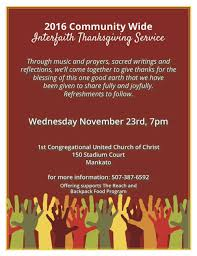 all welcome at mankato s 2016 community wide interfaith thanksgiving