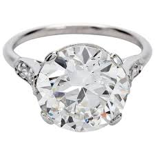 cartier diamond rings images Gia report art deco cartier round 4 carat diamond engagement ring jpg