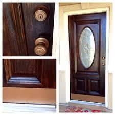 How To Stain Mohagany Doors Youtube by Front Doors Home Door Ideas Refinish Front Door Diy Wood Door