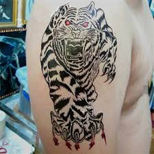 best seller 1pcs chest waterproof tiger stickers prothorax