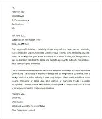 collection of solutions self introduction letter to clients sample