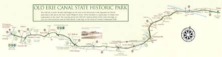 map of the erie canal erie canal state historic park