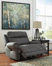 gray zero wall power wide recliner