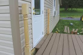 deck posts installation s u0026l spindles