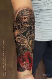 demonic skull with mask by sanket patel at aliens india