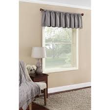 Solid Color Valances For Windows Mainstays Textured Solid Valance Curtain Walmart Com