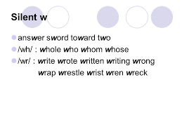 silent letters ppt download
