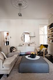 round storage ottoman living room scandinavian with tan sofa tan