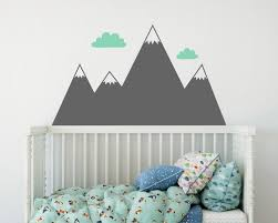 decoration murale montagne sticker mural de montagne chambre denfant sticker stickers