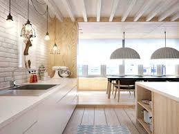 cuisine bois blanche deco cuisine blanc et bois influence ashabby chica en cuisine