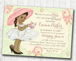 tea party baby shower invitation for birthday tea party