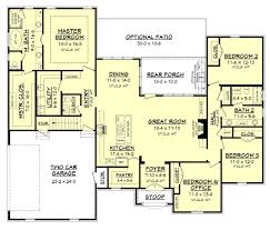 Tudor Style Floor Plans by Ranch Style House Plans With Open Floor Plan Bedroom Inspired Wrap