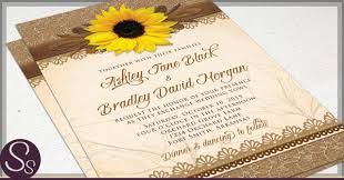 sunflower wedding invitations rustic sunflower wedding invitations rustic paper