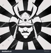 vector samurai mask japanese traditional martial stock vector