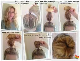 hairstyles with a hair donut how to use a donut bun maker with long hair hairstyle ideas