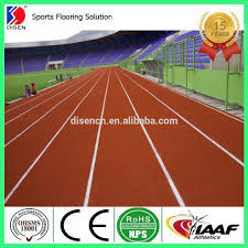 Dynamic Sports Flooring by 400 Meter Standard Sandwich System Running Athletic Track Field