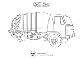 monster trucks coloring pages garbage truck transportation coloring pages for kids printable in