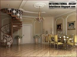 luxury spiral staircase interior round stairs design wood stair