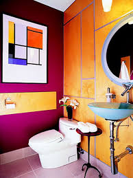 pretty bathrooms ideas fantastic colorful bathroom idea with pixelate floor and yellow