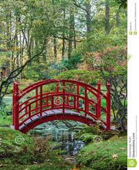 autumn leaves a small garden bridge for your japanese garden