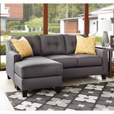 ashley furniture home theater seating ashley furniture aldie nuvella sofa chaise in gray local