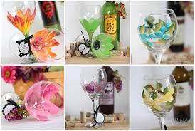 wine glass gift wine glasses judi painted it