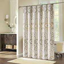 Shower Curtain Longer Than 72 Amazon Com Interdesign Forest Shower Curtain Gray And Black 72