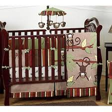 Crib Bedding Jungle Sweet Jojo Designs Monkey Animal Jungle Safari Baby Boy Bedding