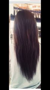 how to cut hair straight across in back layered long straight hair back view hair pinterest long
