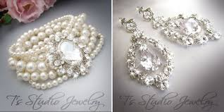 Chandelier Pearl Earrings For Wedding Custom Wedding Jewelry With Pearls Brooches And Rhinestones From
