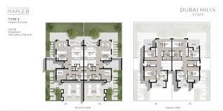 cluster home floor plans maple iii 3 townhouses in dubai hills estate by emaar cluster