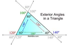 Adjacent Interior Angles Exterior Angles In A Triangle Mathbitsnotebook Geo Ccss Math